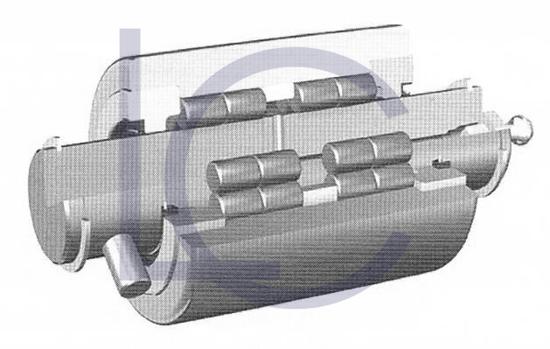 Bild von Stützrolle-Seitenschieber BOL1191 28,8x58x70/117 mm