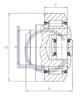 Skizze Kombirolle, Axialrolle einstellbar über Distanzscheiben am Axialrollenhalter MR0150 LC-Wälzlager